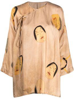 Uma Wang блузка с принтом UP1013U18S1