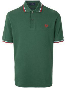 Fred Perry рубашка поло с отделкой в полоску и логотипом M12