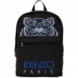 Kenzo Black Kampus Tiger Backpack FA65SF300F20