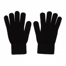 John Elliott Black Wool and Cashmere Gloves GLOVES