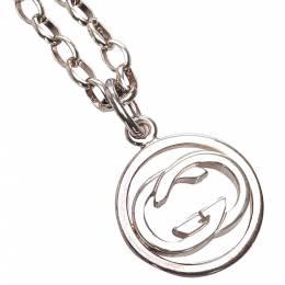 Gucci Silver Metal SV925 Interlocking G Pendant Necklace 338587