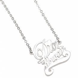 Dior Silver Metal Hawaii Pendant Necklace 332918
