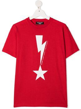 Neil Barrett Kids футболка с принтом Thunderbolt 027867