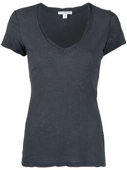 James Perse футболка с V-образным вырезом WUA3695