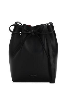 """Сумка """"mini Bucket"""" Из Кожи Растительного Дубления Mansur Gavriel 71IVLW001-QkxBQ0svRkxBTU1B0"""