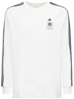 Футболка Из Смешанного Хлопка Adidas Performance 73IGZQ041-V0hJVEU1