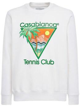 Джемпер Из Джерси С Принтом «tennis Club Icon» Casablanca 73I66H014-MDAx0