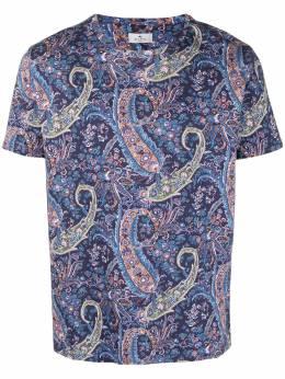 Etro футболка с принтом пейсли 1Y0204101