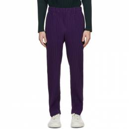 Homme Plisse Issey Miyake Purple Tailored Pleats 2 Trousers HP08JF215