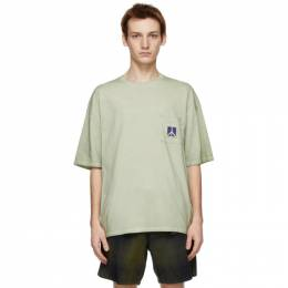 Saturdays Nyc Green Washed Peace T-Shirt M12129PT01