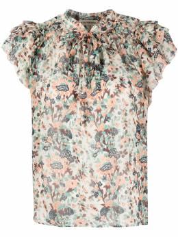 Ulla Johnson блузка с оборками и цветочным принтом PS210231