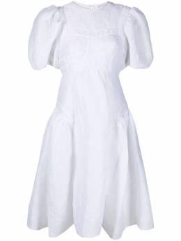 Cecilie Bahnsen расклешенное платье со вставками SC210015