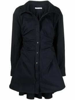 T By Alexander Wang расклешенное платье-рубашка со сборками 4WC1216109