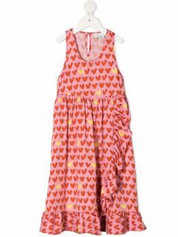 Stella McCartney Kids платье с оборками и принтом 602775SQK96