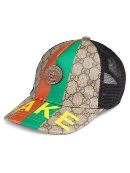 Gucci Kids бейсбольная кепка с надписью 6528664HADP