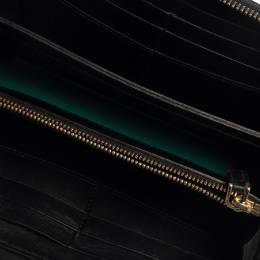 Bvlgari Black Leather Serpenti Forever Zip Around Wallet 376298