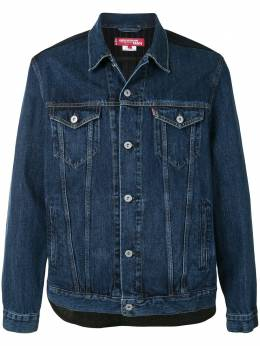 Junya Watanabe джинсовая куртка со вставкой в клетку WFJ201051