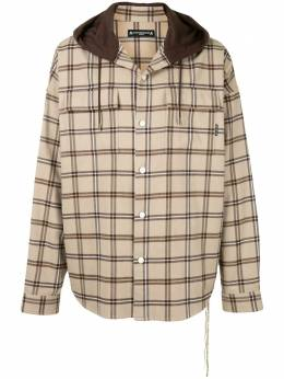 Mastermind World клетчатая рубашка с капюшоном MW20S05SH005007