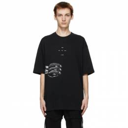Song For The Mute Black Oversized Fish T-Shirt 211_MTS018P5_LUXEBLK
