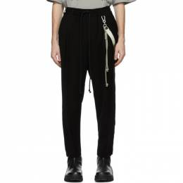 Song For The Mute Black Jersey Lounge Pants 211_MPT065_LIQDBLK