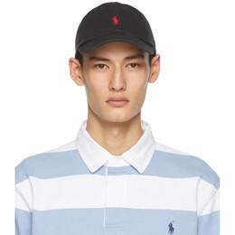 Polo Ralph Lauren Black Cotton Chino Ball Cap 710548524004