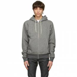 Naked And Famous Denim Grey Heavyweight Hoodie 130453084