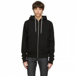 Naked And Famous Denim Black Heavyweight Hoodie 130445684