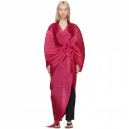 Pleats Please Issey Miyake Pink Madame T Stole Scarf PP17AD111