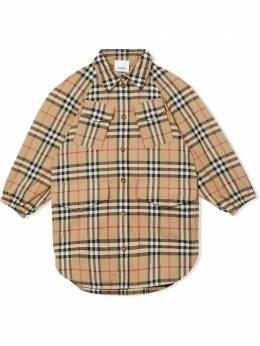 Burberry Kids платье-рубашка в клетку Vintage Check 8029774