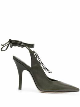 The Attico туфли Venus с ремешком на пятке 211WS127L001