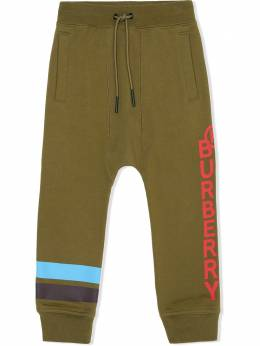 Burberry Kids спортивные брюки с логотипом 8032637