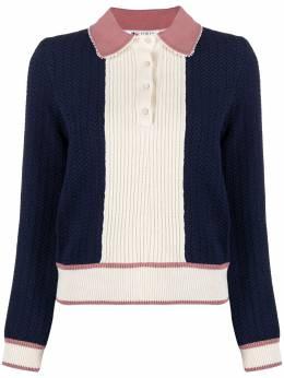 Ports 1961 рубашка поло Fully Fashioned в стиле колор-блок PW121KFP53YCOU650