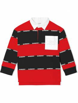 Burberry Kids рубашка поло с логотипом 8032642