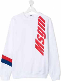 MSGM Kids толстовка с логотипом MS027658