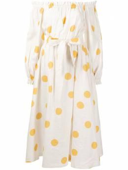 Rebecca Vallance платье Aya с узором в горох 21011943