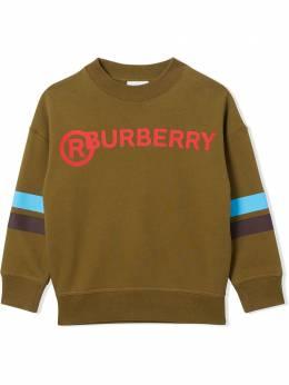 Burberry Kids толстовка с контрастными полосками 8032638