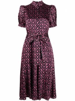 Alice + Olivia платье с завязками и цветочным принтом CC011B49513