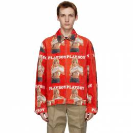 Soulland Red Playboy Edition Corduroy Terry Jacket 1207-1122