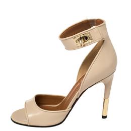 Givenchy Beige Leather Sharklock Sandals Size 37 377760