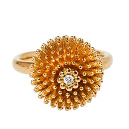 Cartier Cactus De Cartier Diamond 18K Rose Gold Ring Size 50 377568
