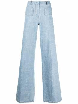 Giambattista Valli широкие джинсы с вышитым логотипом 21SSRVCA300125JJL