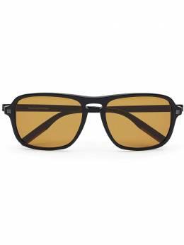 Ermenegildo Zegna солнцезащитные очки в квадратной оправе EZ01705801E