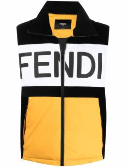 Fendi дутый жилет с вышитым логотипом FAA775AED0