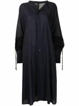 Y's платье-рубашка свободного кроя с аппликацией YTD09225