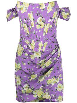 Giuseppe Di Morabito платье мини с цветочным принтом и сборками 177DR127