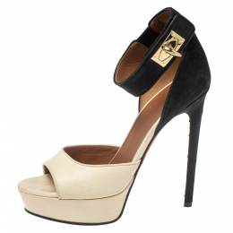 Givenchy Two Tone Leather And Suede Leather Sharlock Sandals Size 37 377067
