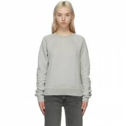 Re/Done Grey Hanes Edition Classic Raglan Sweatshirt 034-8WRGSWST