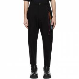 Song For The Mute Black Cotton Gabardine Trousers 211_MPT037_CGDNBLK