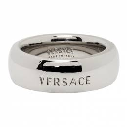 Versace Silver Versace Engraved Ring DG58464 DJMT