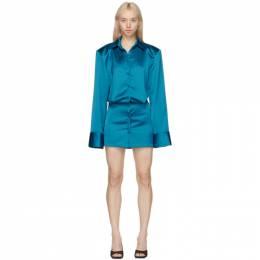 The Attico Blue Margot Mini Dress 211WCA54 - E019 - 151